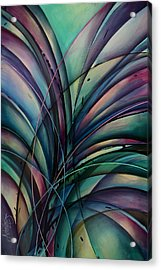 Abstract Design Acrylic Print by Michael Lang