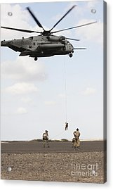 Air Force Pararescuemen Conduct Acrylic Print by Stocktrek Images