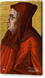 Albertus Magnus, Medieval Philosopher Acrylic Print by Science Source