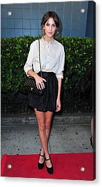 Alexa Chung Wearing A 3.1 Phillip Lim Acrylic Print by Everett