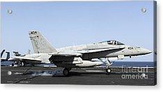 An Fa-18c Hornet Makes An Arrested Acrylic Print by Stocktrek Images