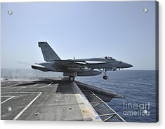 An Fa-18e Super Hornet Launches Acrylic Print by Stocktrek Images