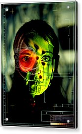 Android Robot Acrylic Print by Neal Grundy