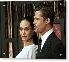 Angelina Jolie, Brad Pitt At Arrivals Acrylic Print by Everett