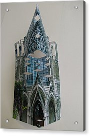 Architecture Reconstruction Acrylic Print by Alfred Ng