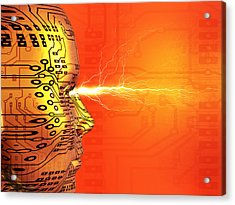 Artificial Intelligence Acrylic Print by Mehau Kulyk