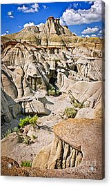 Badlands In Alberta Acrylic Print by Elena Elisseeva