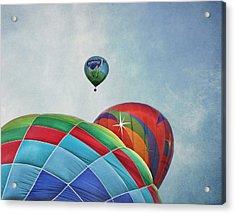 3 Balloons At Readington Acrylic Print by Pat Abbott