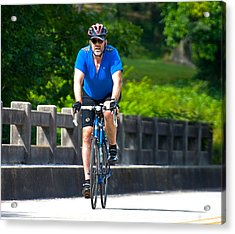 Bicycle Ride Across Georgia Acrylic Print by Susan Leggett