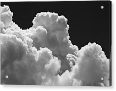 Black And White Sky With Building Storm Clouds Fine Art Print Acrylic Print