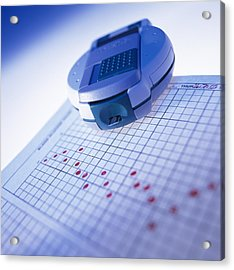 Blood Glucose Tester Acrylic Print