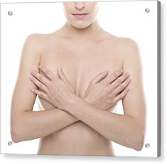 Breast Self-examination Acrylic Print by