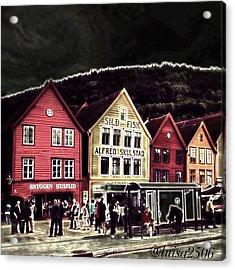 Bryggen Acrylic Print