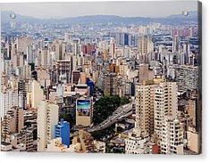 Buildings Of Downtown Sao Paulo Acrylic Print