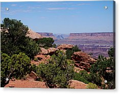 By The Canyon Acrylic Print