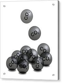 Carbon Dioxide And Climate Change Acrylic Print by Victor De Schwanberg