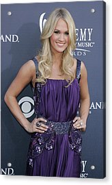 Carrie Underwood At Arrivals Acrylic Print by Everett