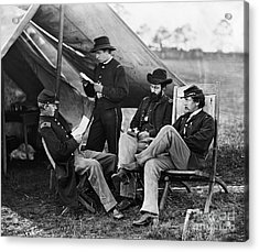 Civil War: Union Officers Acrylic Print by Granger