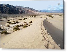 Death Valley National Park Mesquite Flat Sand Dunes Acrylic Print by Eva Kaufman