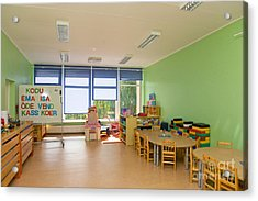 Empty Estonian Elementary Grade School Acrylic Print by Jaak Nilson