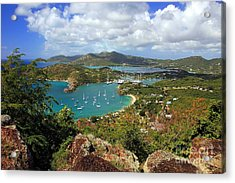 English Harbor Antigua Acrylic Print by Sophie Vigneault