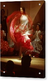 Flamenco Dancer Acrylic Print by Carl Purcell