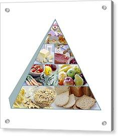 Food Pyramid Acrylic Print by David Munns