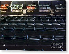 Fort Worth Stockyards Coliseum Seating Acrylic Print by Jeremy Woodhouse