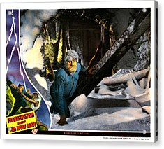 Frankenstein Meets The Wolf Man, Main Acrylic Print by Everett