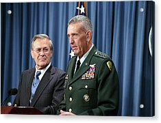 General Tommy Franks Commander Of U.s Acrylic Print by Everett