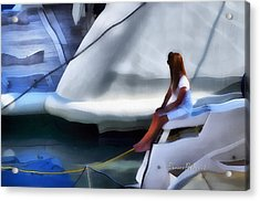 Acrylic Print featuring the mixed media Genova Salone Nautico Internazionale - Genoa Boat Show by Enrico Pelos