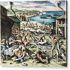 Jamestown: Massacre, 1622 Acrylic Print by Granger
