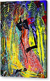 Acrylic Print featuring the painting Jesus And Mary by Gloria Ssali