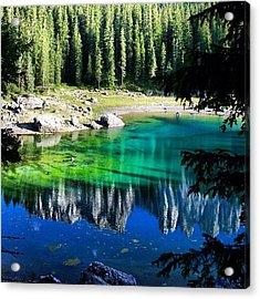 Lake Of Carezza Acrylic Print