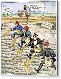 League Of Nations Cartoon Acrylic Print by Granger