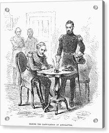 Lees Surrender, 1865 Acrylic Print by Granger