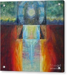 Acrylic Print featuring the mixed media Light Of Mother Earth by Diana Riukas