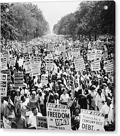 March On Washington. 1963 Acrylic Print by Granger