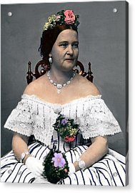 Mary Todd Lincoln 1818-1882, Wife Acrylic Print by Everett