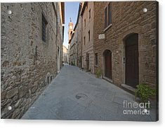Medieval Street And Clock Tower Acrylic Print by Rob Tilley