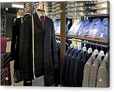 Menswear On Display At A Clothes Shop Acrylic Print by Jaak Nilson