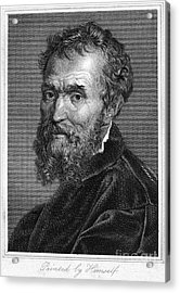 Michelangelo (1475-1564) Acrylic Print by Granger
