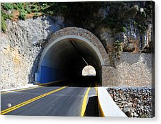 Mountain Tunnel. Acrylic Print by Fernando Barozza