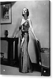 Myrna Loy, Mgm Portrait By Clarence Acrylic Print by Everett