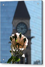 Nature With Architecture Acrylic Print by Alfred Ng