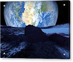 Near-earth Asteroid, Artwork Acrylic Print by Detlev Van Ravenswaay