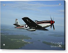 North American P-51 Cavalier Mustang Acrylic Print by Daniel Karlsson