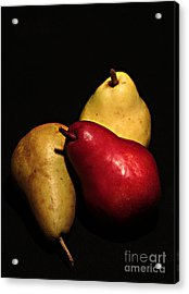 3 Of A Pear Acrylic Print by David Taylor