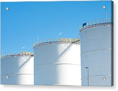 Acrylic Print featuring the photograph Oil Tanks by Hans Engbers