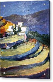 Paros Lefkes Acrylic Print by George Siaba
